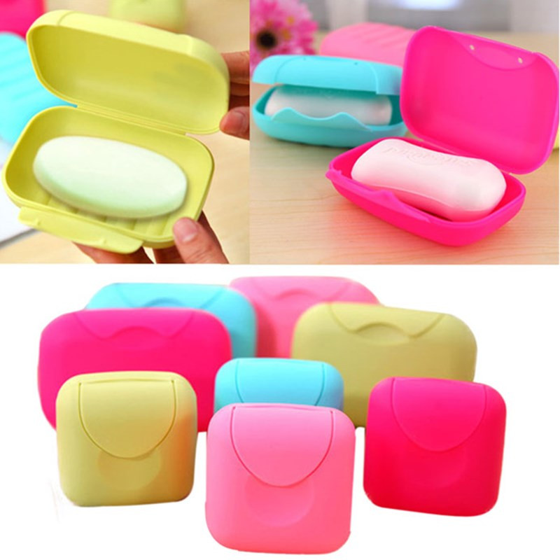 New Bathroom Dish Plate Case Home Shower Travel Hiking Holder Container Soap Box Easy To Carry Soap Boxes A65