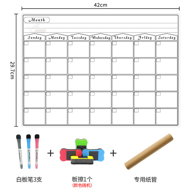 Umitive 1pcs Magnetic Dry Erase Calendar for Fridge White Board Family Schedule Week Monthly Planner waterprooftime management 5