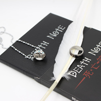 Cosplay Ryuk Cover Note Book Death Note Notebook Feather Pen Necklace Ring Stationery Set Writing Journal