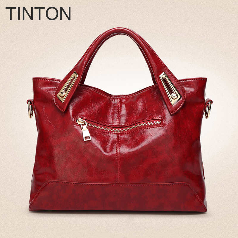 TINTON 2018 new fashion women's Tote Shoulder bag Messenger bag High-quality PU designer handbag women famous brands female gift high quality authentic famous polo golf double clothing bag men travel golf shoes bag custom handbag large capacity45 26 34 cm