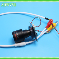 AHWVSE HD CMOS 1200TVL Mini CCTV Camera Module Board With BNC Cable 2 8 12mm LENS