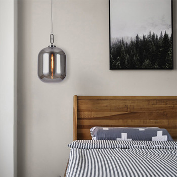 Nordic Concise Glass Dining Room Pendant light Retro Designer Restaurant Bar Decoration Light Vintage Bed Light Free Shipping