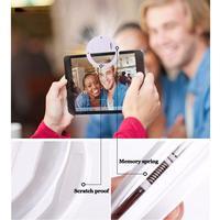 Lujo Universal LED de Luz de Flash Up Autofoto Luminoso Anillo de Teléfono Para iPhone7 6 6 S Plus LG Samsung Para Oneplus Xiaomi Huawei Lenovo