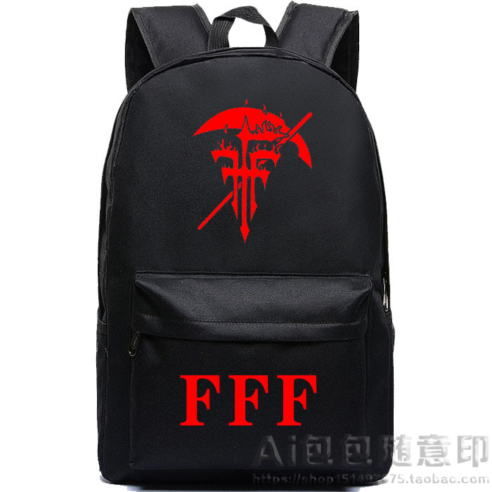 Anime FFF heresy trial group Cosplay Anime Shoulder Bag Male Female Student Fashion Casual Bag Backpack