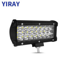 YIRAY 7 inch 72W 6000k LED Strip Light LED Work Light Bar Light for Motorcycle Tractor Boat Off Road 4WD 4x4 Truck SUV ATV цена и фото