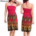 2016 NEW Sexy Summer Beach Women Fashion Casual Long Beach print Boho Tee Dress Sundress Wholesale +free shipping