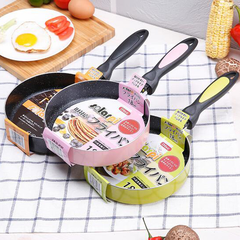 18cm Non-stick Frying Pan Saucepan Mini Portable Fried Eggs Pot Cookware Kitchen Tools Coating and Induction cooking -4