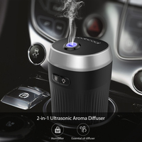 Air Humidifier Mini Portable 70ml Ultrasonic Car Aroma Essential Oil Diffuser Aromatherapy Cool Mist Waterless Auto