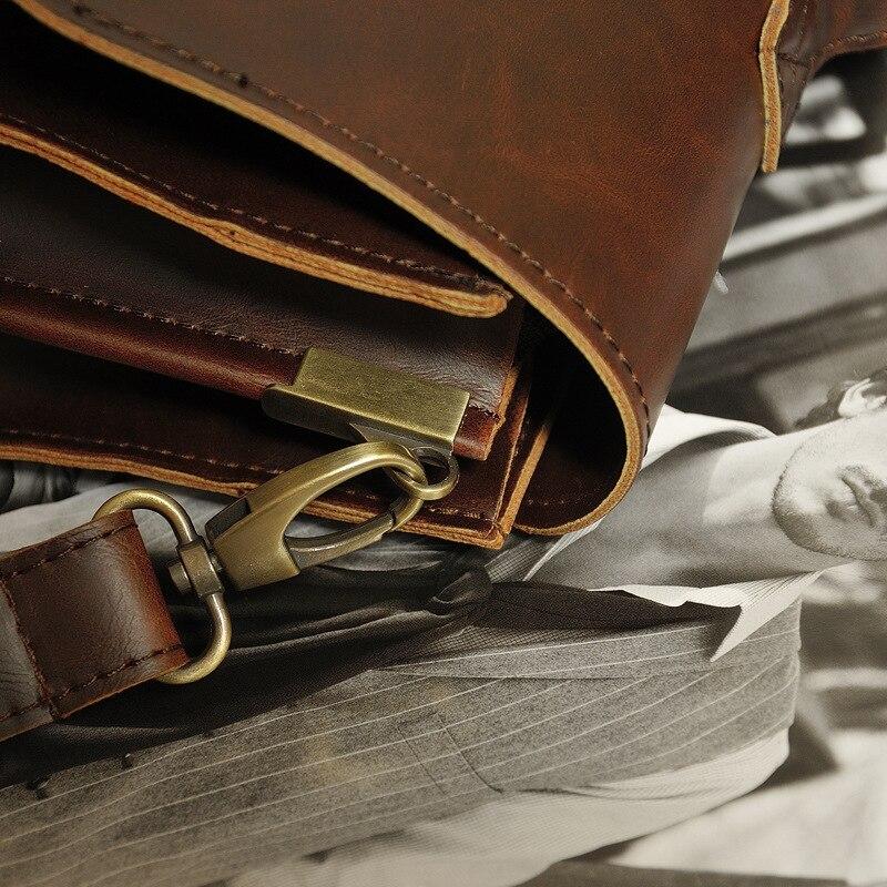 Designer Men briefcase Crazy horse Leather Shoulder Bags Vintage Crossbody Bags Business office Handbags Men s Designer Men briefcase Crazy horse Leather Shoulder Bags Vintage Crossbody Bags Business office Handbags Men's Travel Laptop Bag