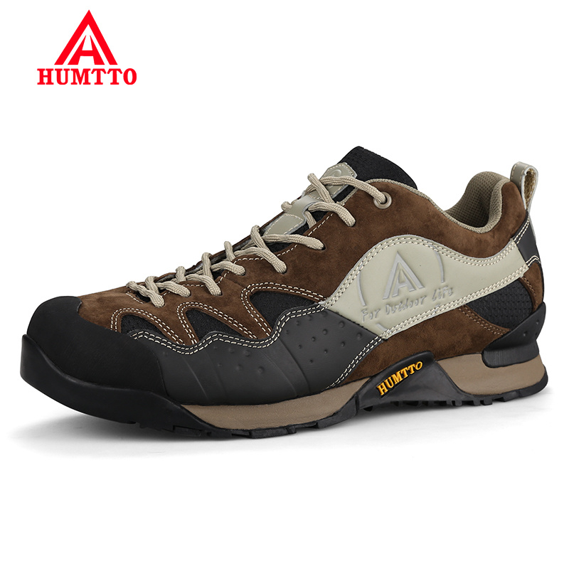 Winter Hiking Shoes Rushed Genuine Leather Lightwei Outdoor Trekking Boots Lace-up Climbing Mens Sneakers Men Male Walking sale outdoor sport boots hiking shoes for men brand mens the walking boot climbing botas breathable lace up medium b m