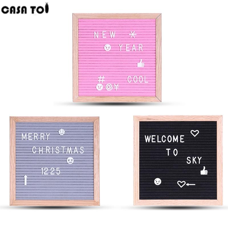 Letter Board With Letters Black Toys For Boys Decoration New Message Felt Board Sign Oak Frame And Black Retro Felt Blocks цена 2017