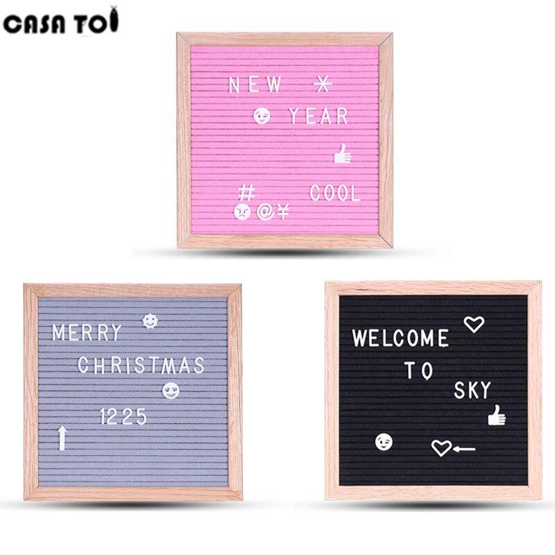 Letter Board With Letters Black Toys For Boys Decoration New Message Felt Board Sign Oak Frame And Black Retro Felt Blocks