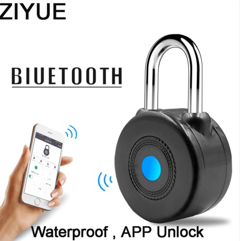 US $28 5 5% OFF|Free Shipping Waterproof Portable Phone Bluetooth App  Unlock Smart Lock Anti Theft Alarm Pad Lock for Bike Door-in Locks from  Home
