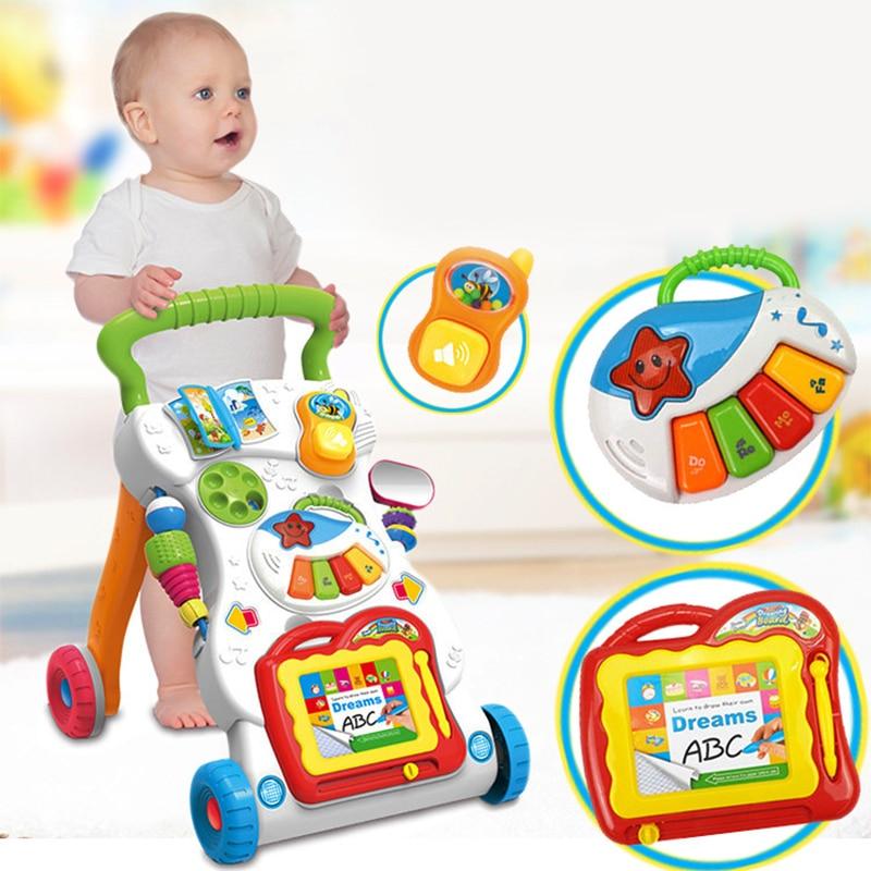 Marcheur Musical multifonctionnel de chariot à enfant en bas âge de marcheur avec la vis réglable pour des jouets de voiture d'enfant en bas âge pour des enfants