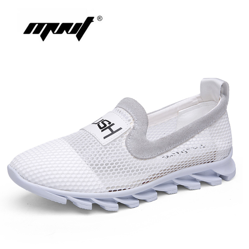 Summer Casual Shoes Woman Slip-On Platform Flats Female Breathable Zapatillas Slipony Women Shoes Zapatillas Mujer pinsen 2017 summer women flat platform sandals shoes woman casual air mesh comfortable breathable shoes lace up zapatillas mujer