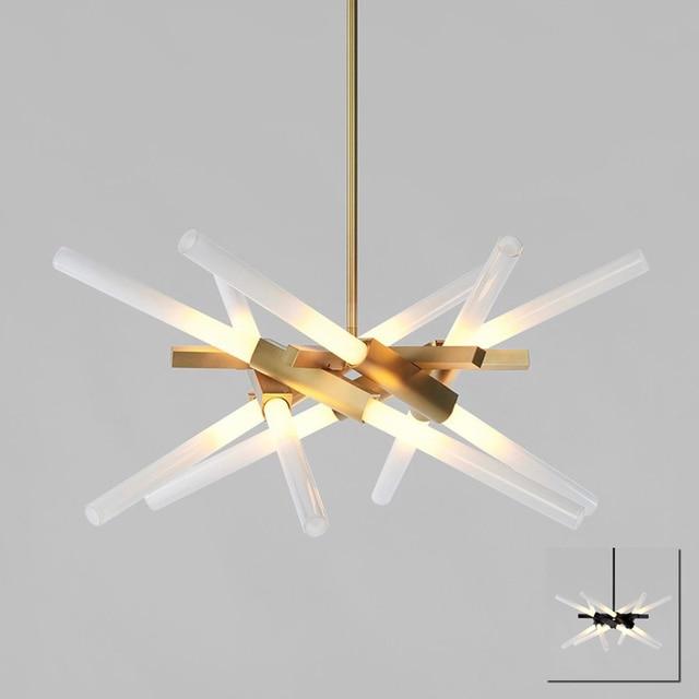 Ast Rolle Hill Goldene Stange Rohr Pendelleuchte Lampe FHRTE Moderne Design Stilvolles Wohnzimmer Esszimmer Licht
