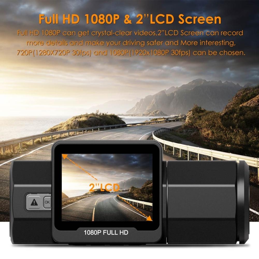 Vantrue T2 Dash Camera NT96655 Video Recorder 160 Degree View Wave Guard Packing Monitor Night Vision G-Sensor Car DVR Camera  (4)
