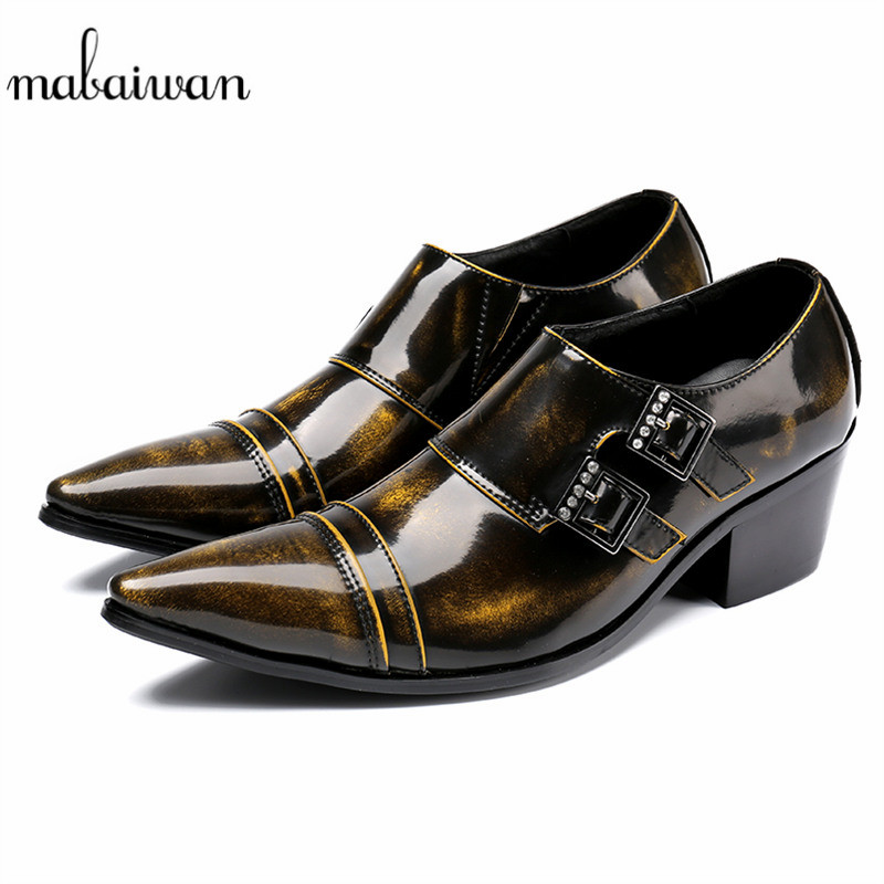 Mabaiwan 2018 New Fashion Casual Shoes Leather Dress Men Shoes Slip On Italy Retro Business Wedding Formal Dress Shoes Men Flats mabaiwan fashion new design leather dress men shoes lace up italy business wedding formal shoes men metal pointed toe male flats