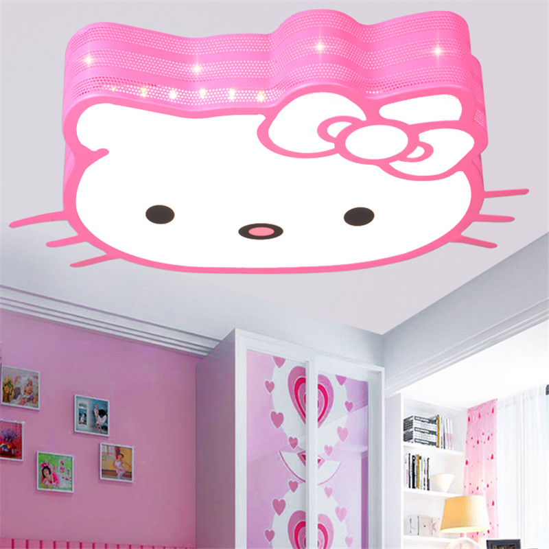 Pink SpongeBob SquarePant Hello Kitty Princess Led Ceiling Light Lamp For Girls Boy Babies Kids Children's Room Bedroom Lighting