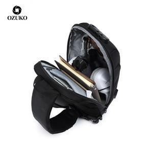 Image 3 - Ozuko 2019 新しい多機能クロスボディバッグ男性のアンチ盗難防止ショルダーメッセンジャーバッグ男性防水ショート旅行胸バッグパック