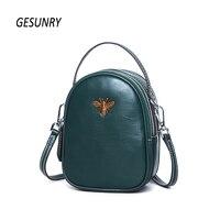 New Fashion Women Messenger Bag First Layer Cowhide Shoulder Crossbody Bag Ladies Genuine Leather Phone Bag