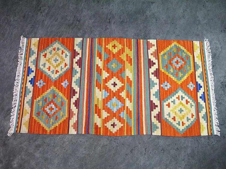 Jilimu Hand Woven Wool Carpet Kilim