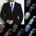Floral Dot hombres Lazos de Seda 100% Jacquard Tejida Clásica de Negocios Partido Corbata Lazos de Los Hombres 7 cm de Ancho