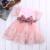 2017 Nova Meninas Do Bebê Da Princesa Roupas Vestido de Manga Curta Rendas arco vestido de Baile Vestido de Festa Tutu Criança Crianças Fancy Dress 0-7A