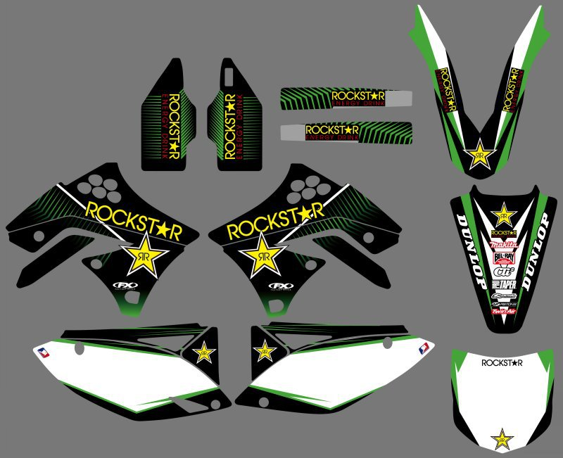 GRAPHICS & BACKGROUNDS <font><b>DECALS</b></font> STICKERS Kits for Kawasaki <font><b>KX250F</b></font> KXF250 2009 2010 2011 2012 KXF 250 KX 250F image