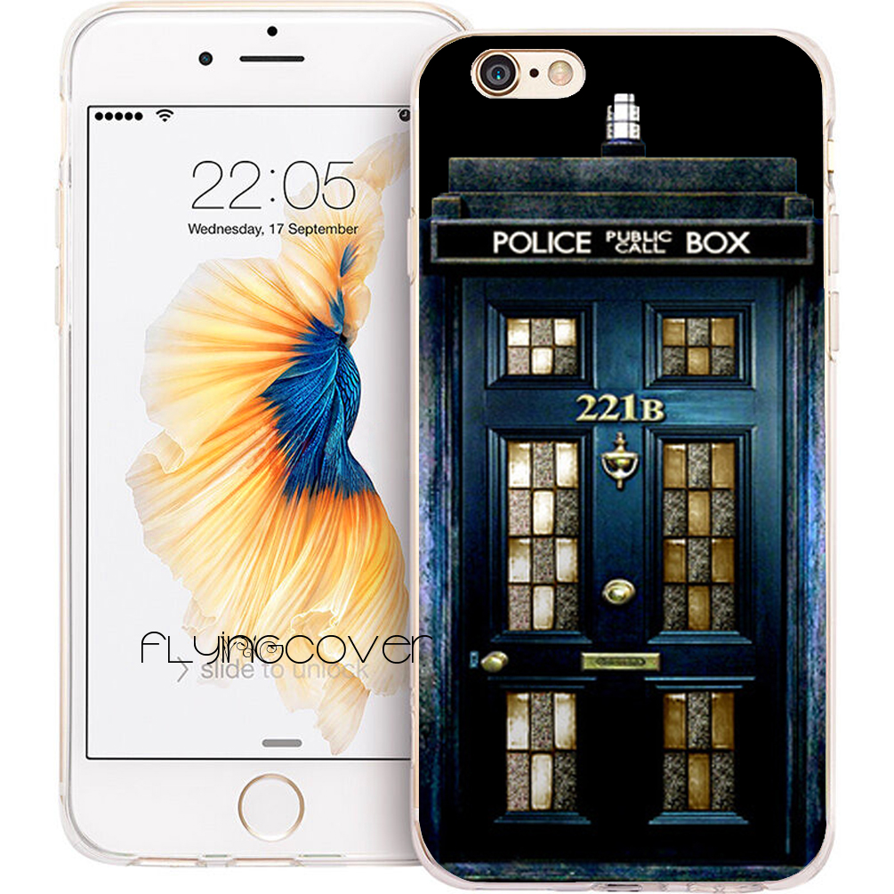Coque Sherlock Doctor Who Capa Soft TPU Silicone Phone Cover for iPhone 7 7Plus Case for iPhone 5S 5 SE 6 6S Plus 5C 4S 4 Cases.