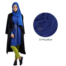 Muslim Casual Hijab Jersey Long Shawl Head ScarF Dubai Arab Islamic Product Women Modal Wrap Lycra Turban Royal Blue Bandana