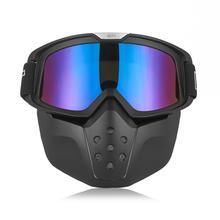 2018 Nuovo Arrivo GXT Googles Sci Occhiali Occhiali Da Moto cavaliere Nero Motocross Occhiali di protezione del Casco Staccabile Maschera Doppia Lente Occhiali