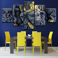 5 piece India Ganesh Statue Buddha Painting Canvas Wall Art Picture for Living Room Decor Wall Painting Home Decor Art