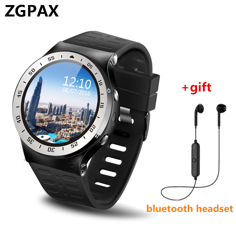 Original ZGPAX GSM 3G WCDMA Quad-Core Android phone Smart Watch GPS WiFi 5MP Camera Pedometer Heart Rate Monitor For Samsung ios new fashion zgpax s99b gsm 3g wcdma quad core android v5 1 8g rom smart watch gps wifi 2 0mp hd camera pedometer heart rate