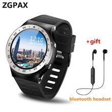 Original ZGPAX GSM 3G WCDMA Quad-Core Android phone Smart Watch GPS WiFi 5MP Camera Pedometer Heart Rate Monitor For Samsung ios