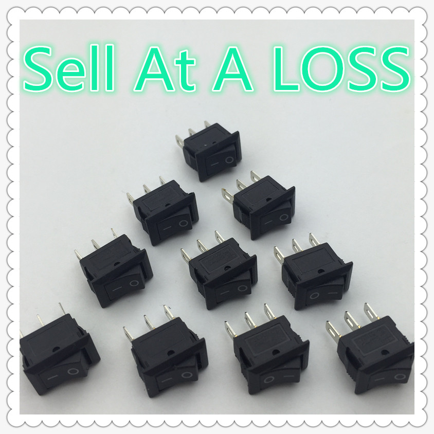 10pcs/lot 10*15mm SPST 3PIN ON/OFF G123 Boat Rocker Switch 3A/250V Car Dash Dashboard Truck RV ATV Home mylb 10pcsx ac 3a 250v 6a 125v on off i o spst 2 pin snap in round boat rocker switch