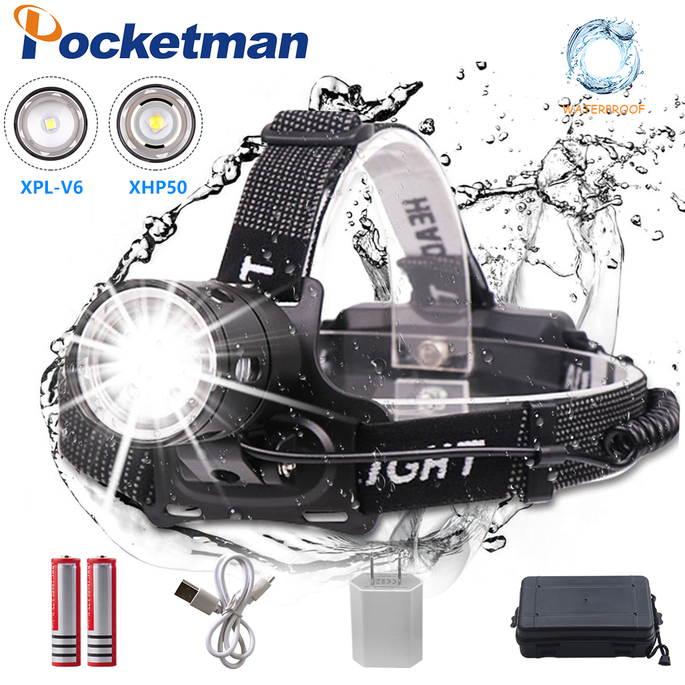32000LM LED Headlamp XHP50/V6 torch LED Headlight Lamp USB Rechargeable 18650 Zoom Fishing Bicycle Flashlight Lantern 32000LM LED Headlamp XHP50/V6 torch LED Headlight Lamp USB Rechargeable 18650 Zoom Fishing Bicycle Flashlight Lantern