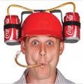2017 напитки шляпа напиток cap hard hat cola бездельничали соды шлем прохладный Уникальный праздник Игры Пива Двойной Держатель Соломы whosole