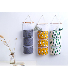 High Quality Cotton Linen Wall Hanging Organizer Storage Bags Door Pouch Bedroom Home Pocket Decor Bag
