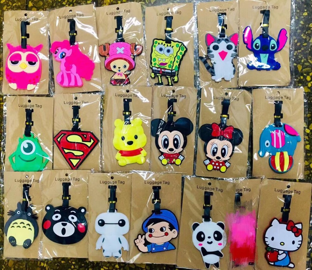 Travel Accessories Owl Luggage Tags Micky Minnie Stitch Suitcase ID Addres Holder Baggage Boarding Portable Label