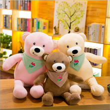 New Style Scarf Teddy Bear Plush Toys Stuffed Animal Doll Toy Children Gift Valentines Day Gifts