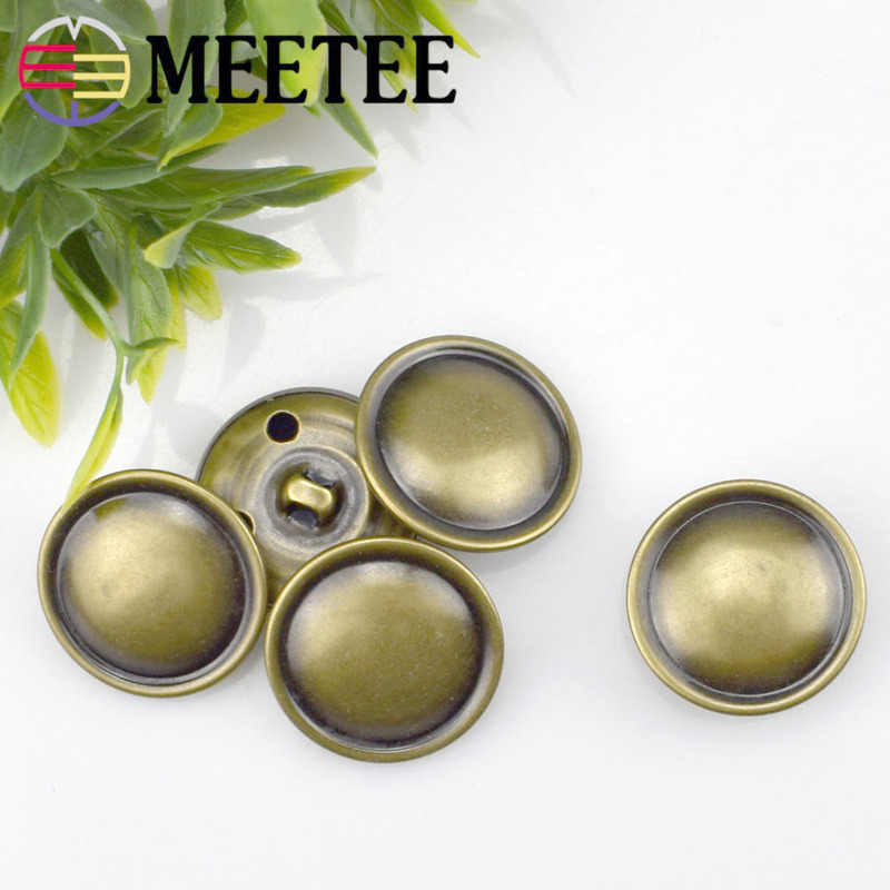 50/100pcs 15-28mm Metal Buttons High-grade Copper Fashion Buckle for Coat Jacket Sweater Shank Botones Sewing Accessories B3-16