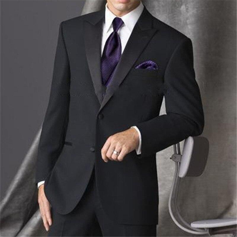 ... Llegada Hombres gris Negro Pico chaqueta Solapa champagne Oscuro Trajes  Negro azul Esmoquin Padrinos gris Nueva Novio Marino Los Traje Boda Corbata  Real ... 0a19af16158
