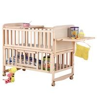8 in1 древесины Детская кровать с полкой, расширенный детские кроватки, 3 класса регулировка высоты детская кроватка, можно объединить с взрос
