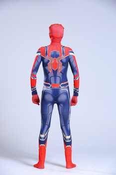 Iron Spiderman Costume Spider Man Suit Spider-man Halloween Costumes Men Adult Kids Spider-Man Cosplay Clothing