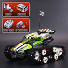 New 397PCS Technic Series The RC Track Remote control Race Car Building Blocks electronic tank robot toy kids gift with Legoed