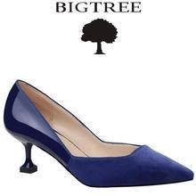 Bigtree 2017 Новая женская обувь классические Насосы женская обувь без шнуровки на среднем каблуке женские туфли на высоком каблуке женские туфли-лодочки sandalias de Salto