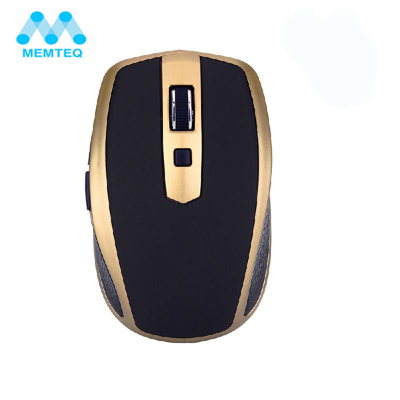 MEMTEQ Portable Ultra Thin Bluetooth Cordless Wireless Mouse 1600DPI 4 Buttons Mini Mice for Notebook Laptop PC Business