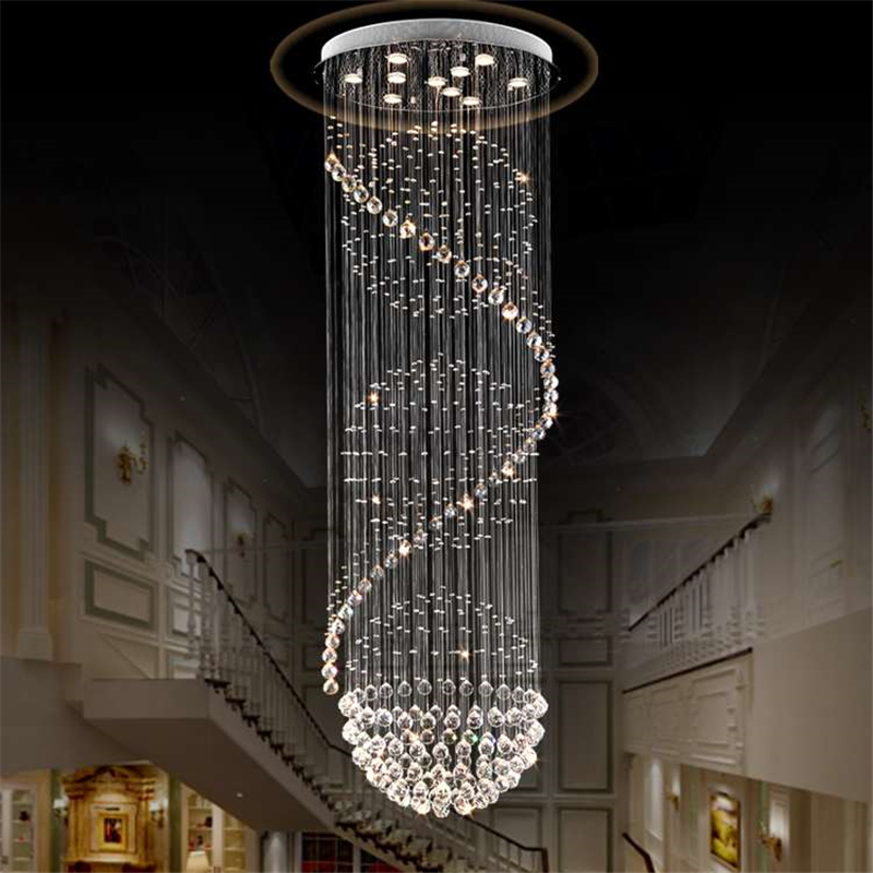 Modern K9 Crystal Pendant Lamp Living Room Globe lustres Home Decoration Luxury Pendants Light Home Lighting Indoor Lamp PLL-504