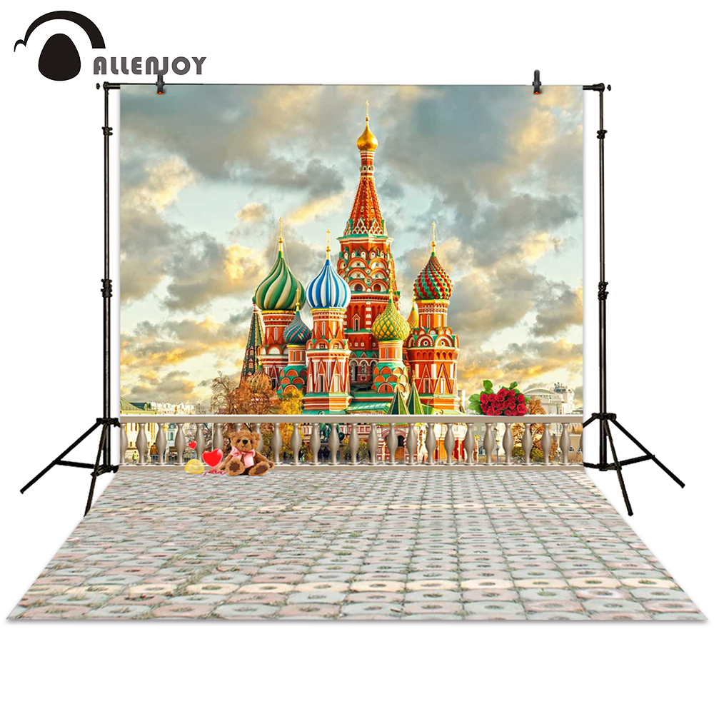 Allenjoy background photography building castle toy fairy tale fence backdrops photocall photographic photo studio  allenjoy photographic background castle butterfly purple stars newborn photography photo for studio send rolled wood